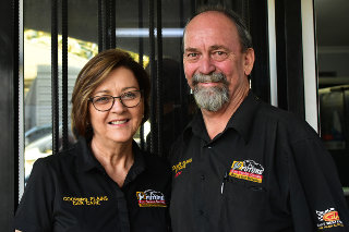 Geoff and Margaret Smith - owners of Coppers Plains Car Care